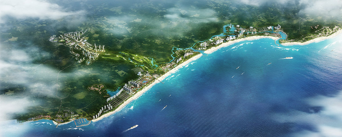 Masterplan for a new tourist destination in China by SOGDesign in collaboration with Teamer