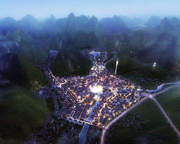 Masterplan for a new tourist destination in China. SOGDesign in Collaboration with Teamer