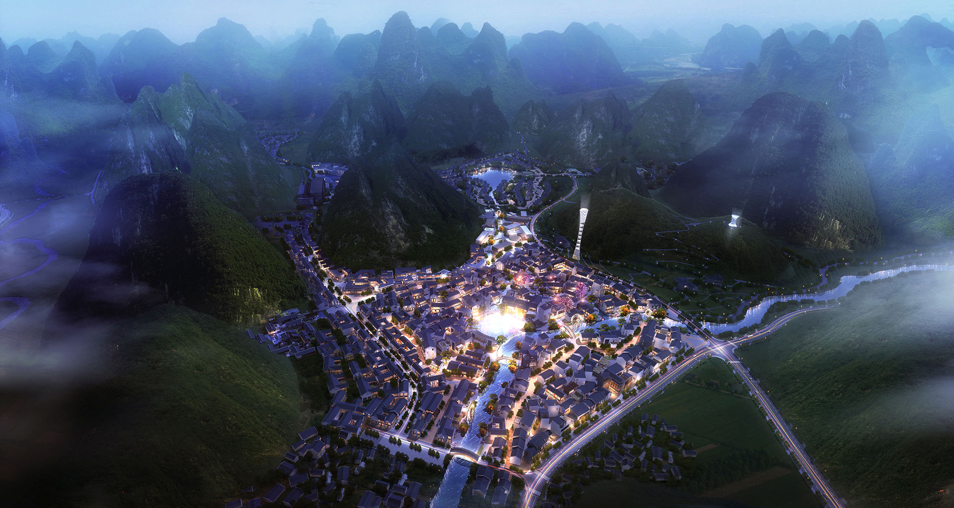 Masterplan in Hezhou Guangxi. SOGDesign