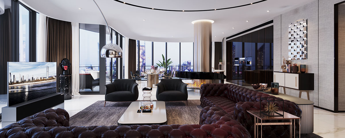 Interior Design of a Penthouse in Brisbane